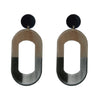 Big Metal LDN - Alice Oversized Two Tone Faux Horn Earrings