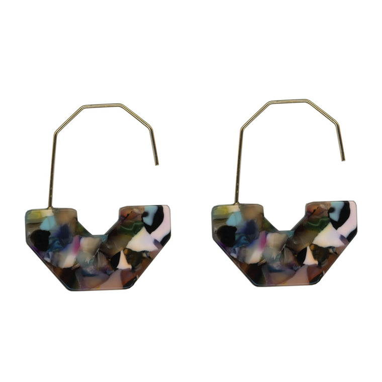 Emma Abstract Earrings - Multi