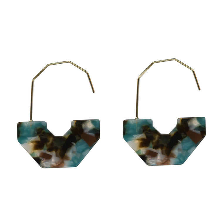 Emma Abstract Earrings - Blue/Black