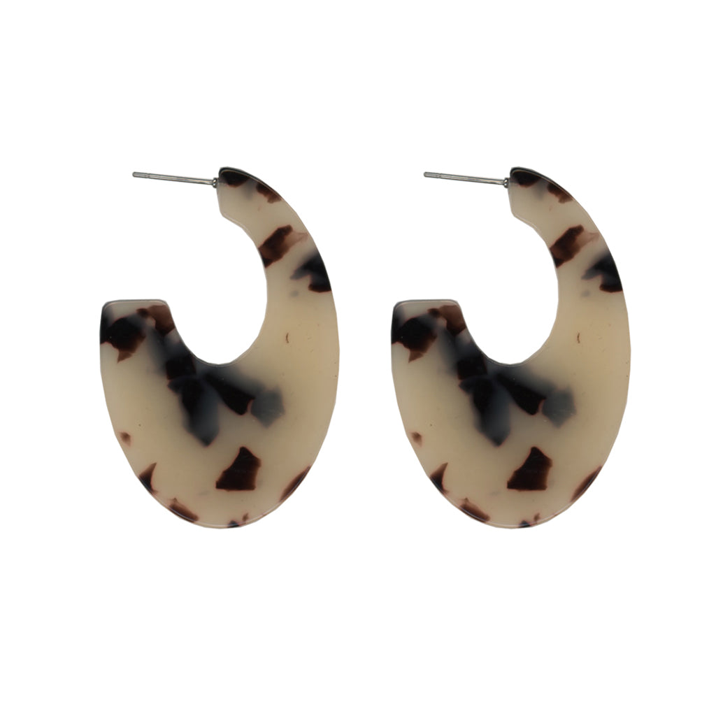 Manon Abstract Resin Earrings - Tortoise
