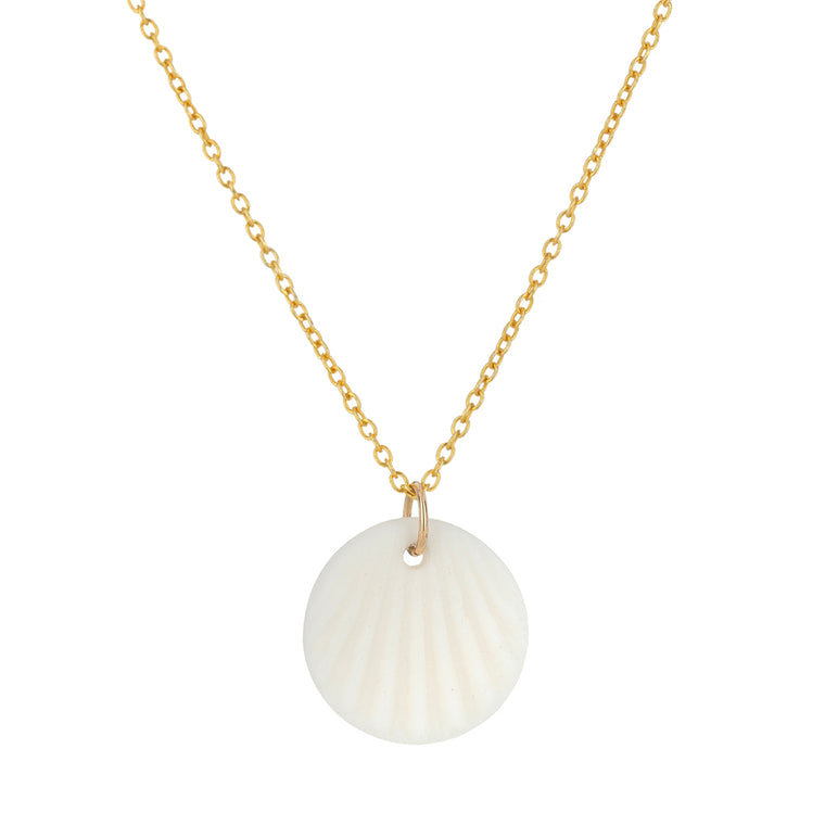 White Scallop Necklace