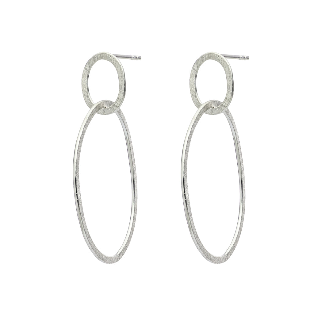 Silver Halo Earrings