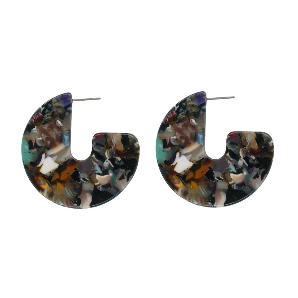 Antonia Cut Out Resin Earrings - Multi