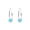 One & Eight Aqua Seaglass Hoops