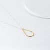 Silver & Gold Teardrop Necklace