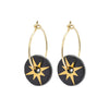 Black Star Gold Earrings