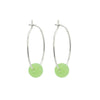 Seafoam Green Sea Glass Silver Hoop Earrings
