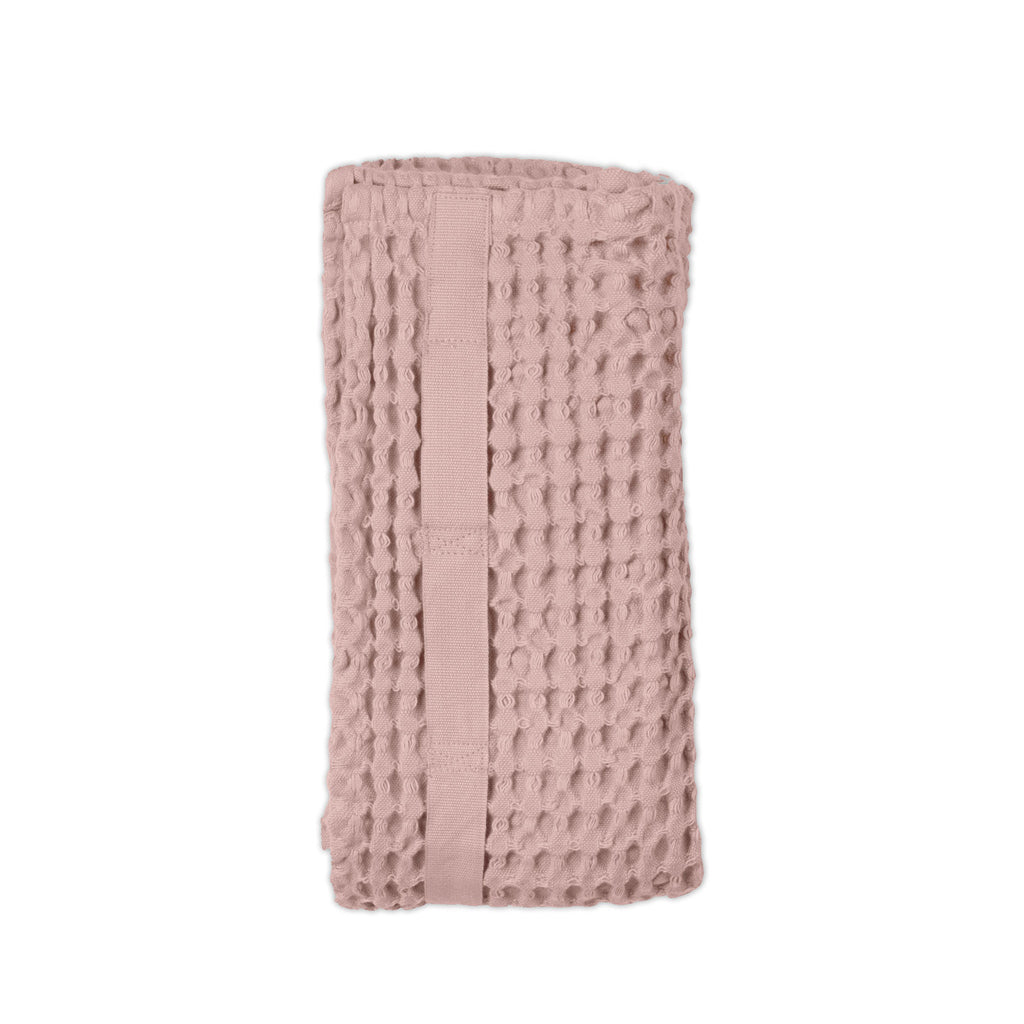The Organic Company - Big Waffle Hand Towel Pale Rose