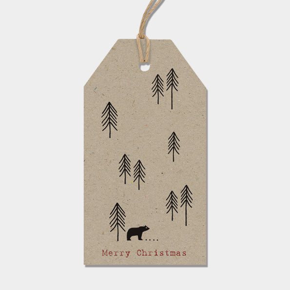 Gift Tags - Kraft Fir Trees & Polar Bear