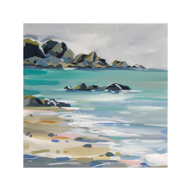 Beachy Pebbles - Original Painting by Janet Bell