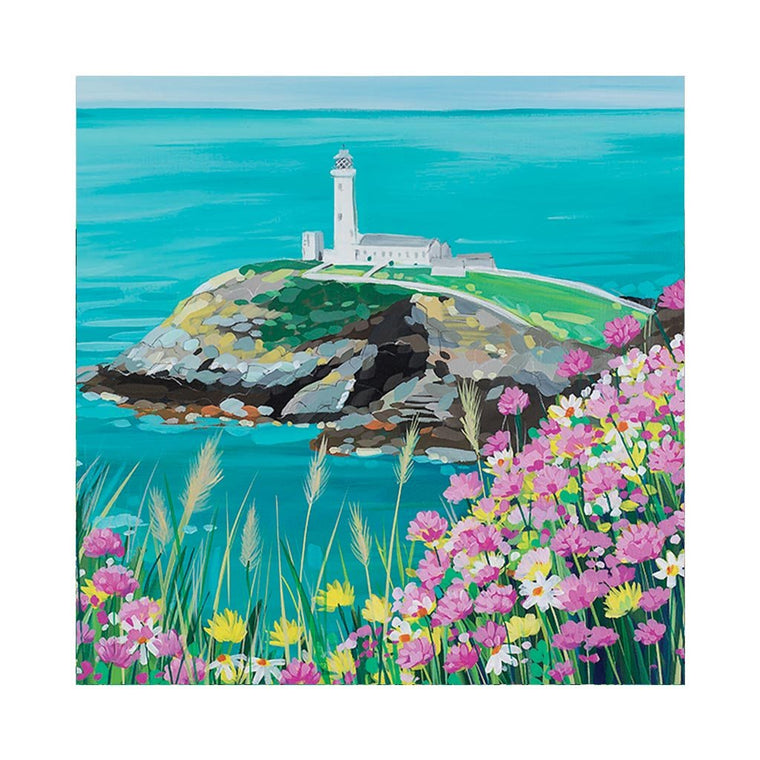 South Stack Flowers Card