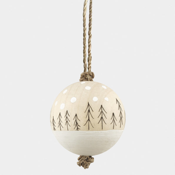 Wood Bauble - Winter Trees