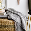 Patterned Cotton Throw - Grey