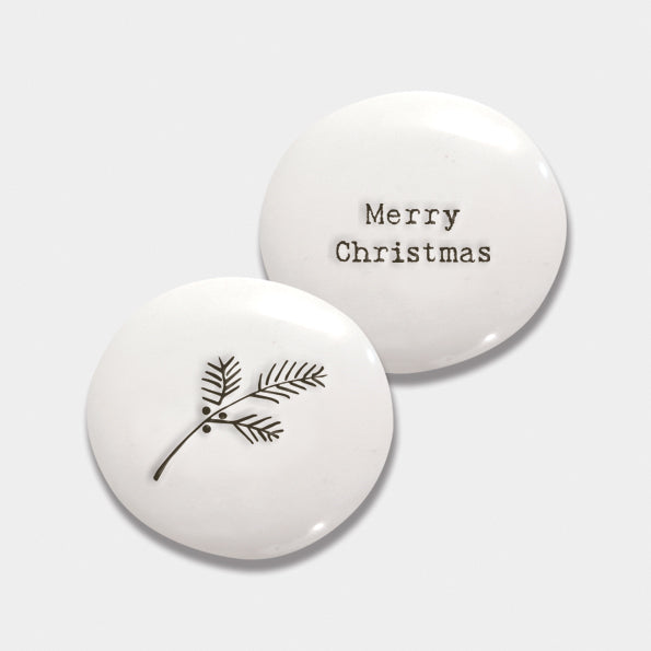 Ceramic Pebble - Christmas Berries