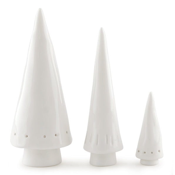 Conical Christmas Trees - Set of 3