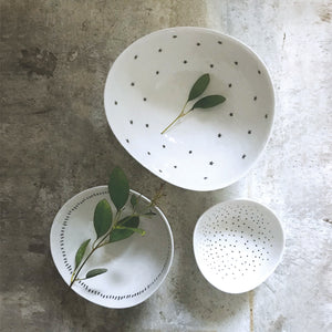 Set of 3 Bowls - Stars, Dashes & Dots
