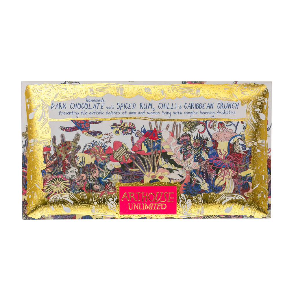 Arthouse Unlimited Chocolate Angels of the Deep - Dark Spiced Rum, Chilli & Caribbean Crunch