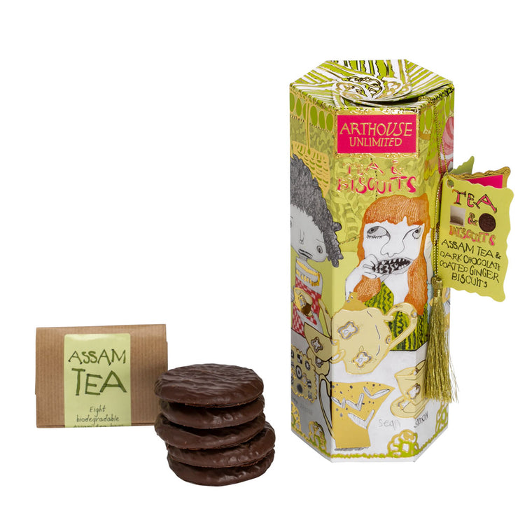 Tea & Biscuits - Dark Chocolate/Ginger & Assam Tea
