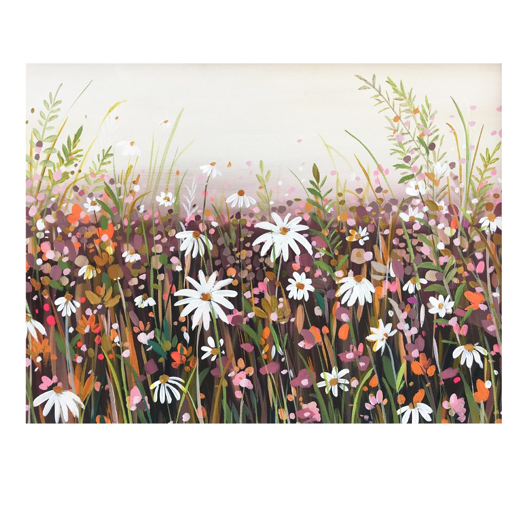 Autumn Daisies - Original Painting by Janet Bell