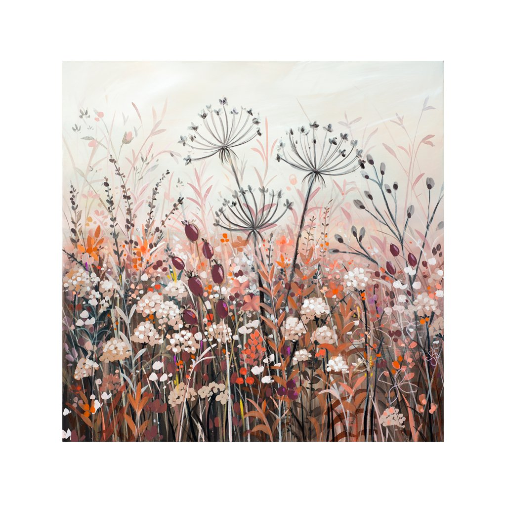 Autumn Hedgerow - Original Painting by Janet Bell