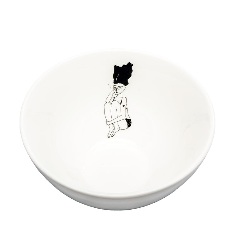 Porcelain Bowl - Cannonball Dive