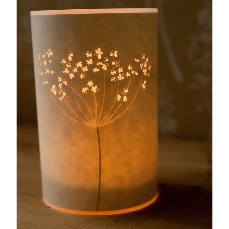 Candle Cover - Cow Parsley