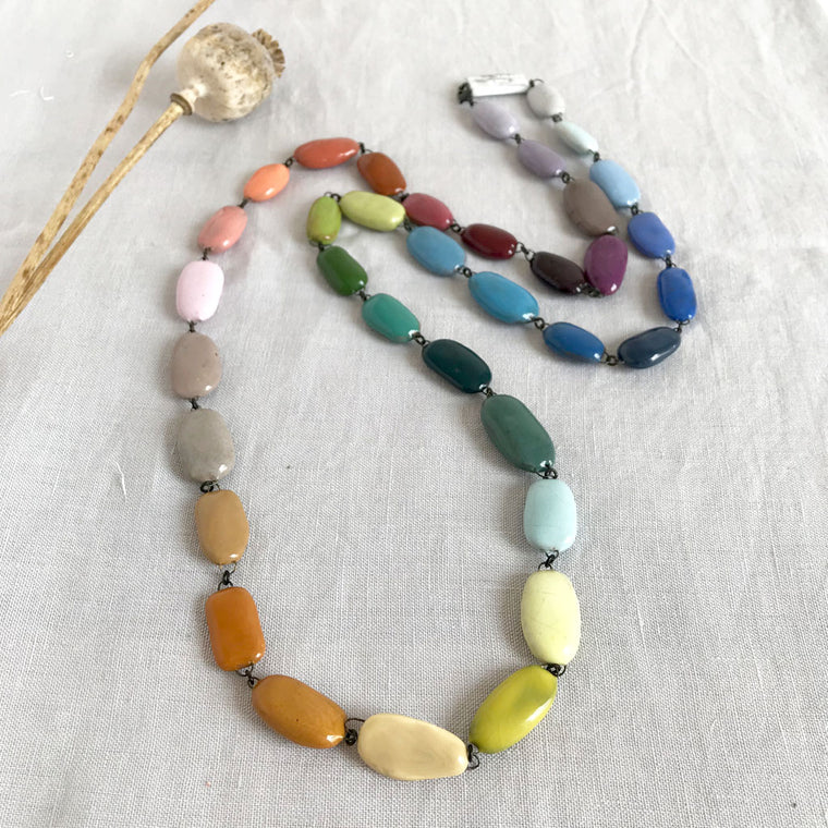 Colour Range Ceramic Necklace - Large Beads