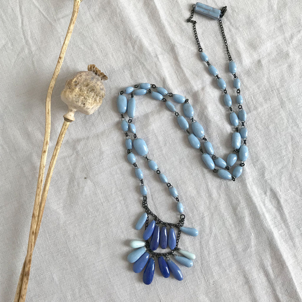 Marie-Plume Necklace - Blue