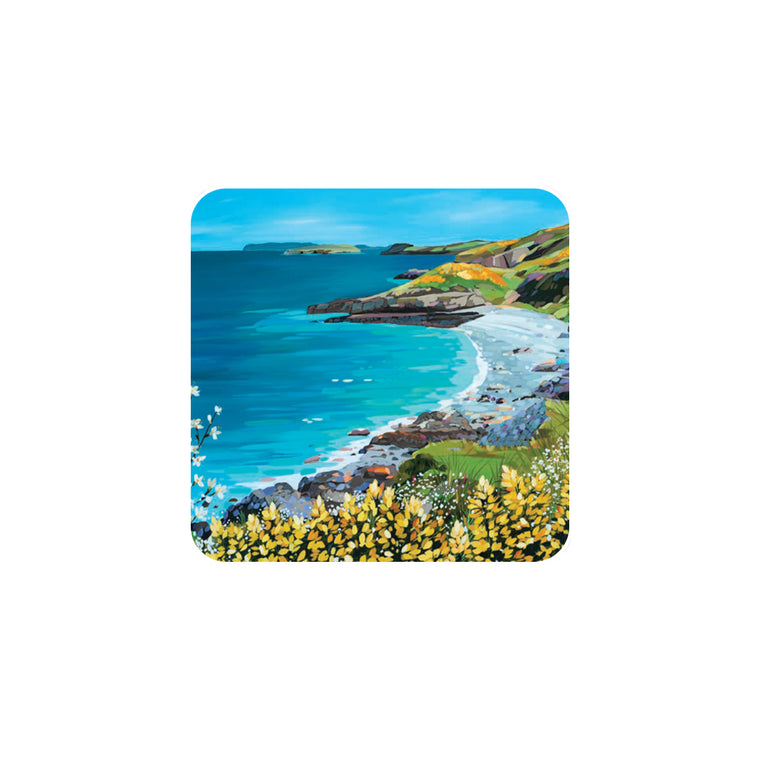 White Beach Coaster by Janet Bell