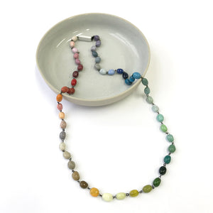 Colour Range Ceramic Necklace - Small Beads