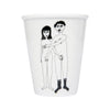 Porcelain Beaker - Naked Couple