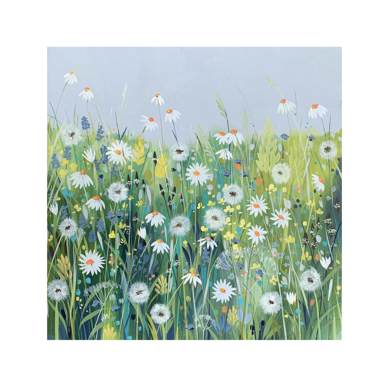 Daisies and Dandelions - Original Painting by Janet Bell