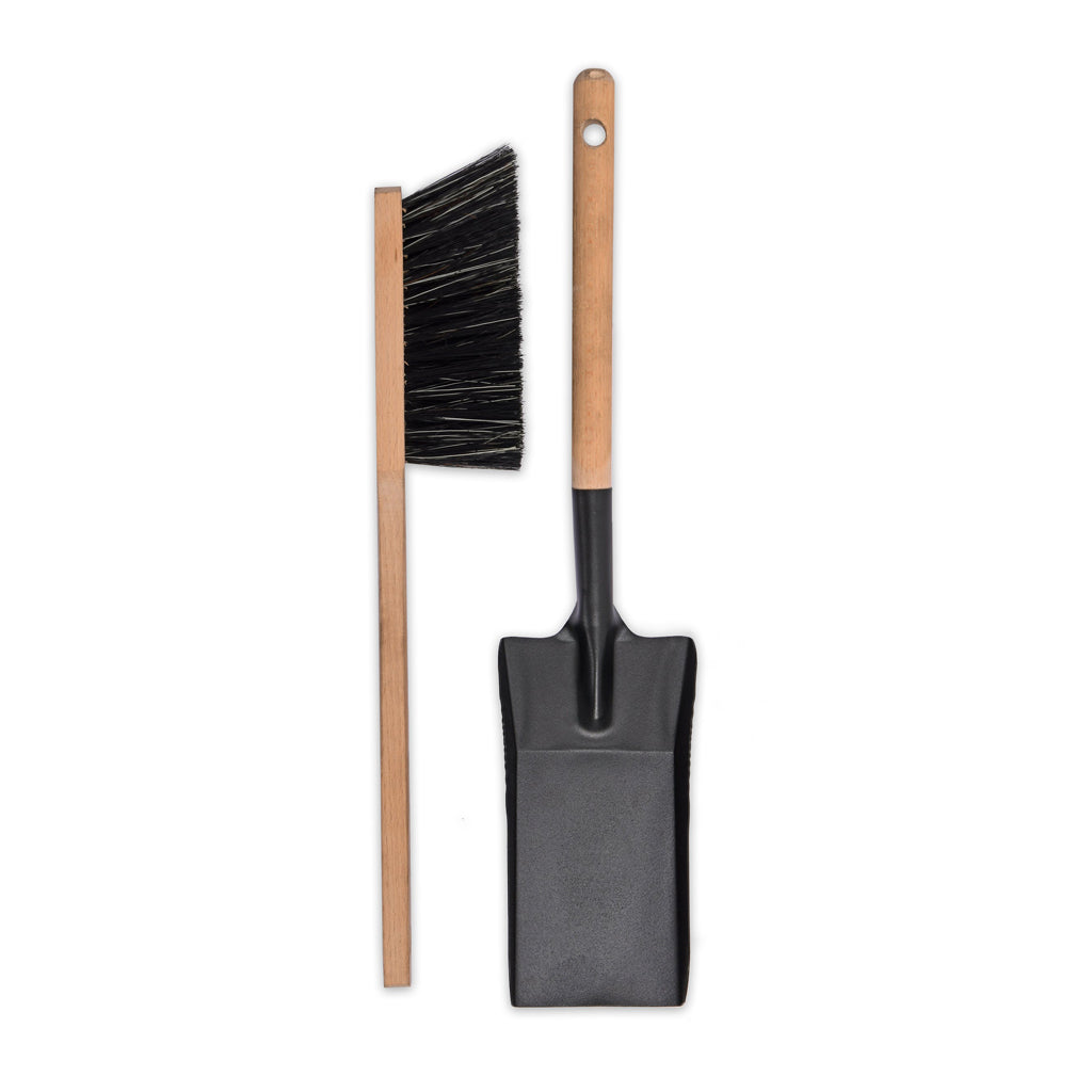 Metal Jutland Fireside Dustpan & Brush