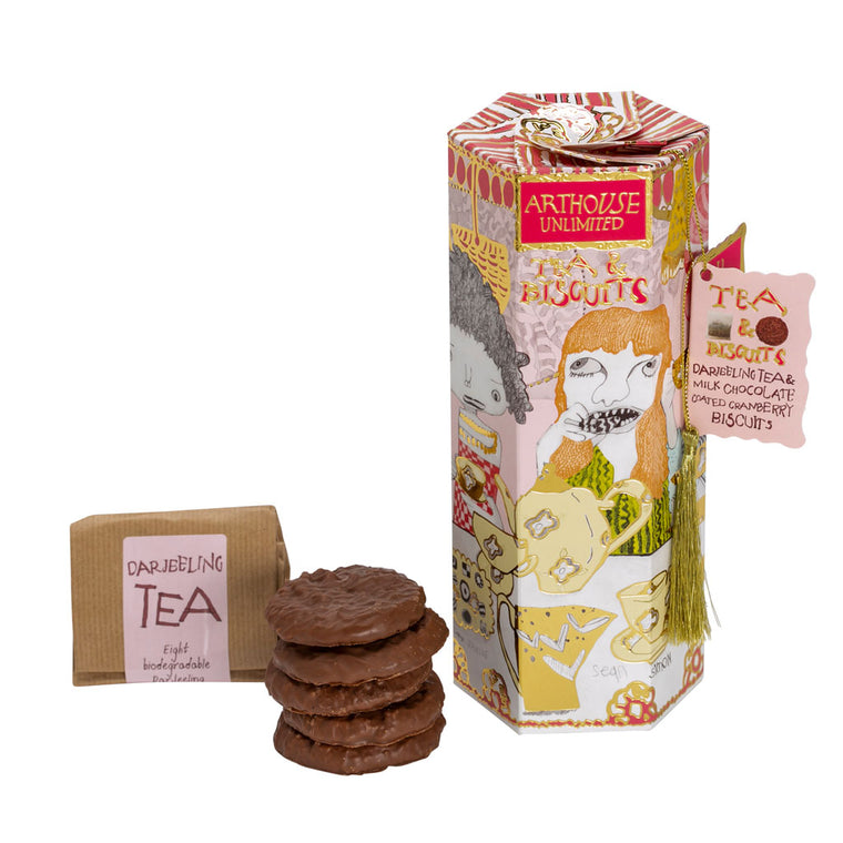Tea & Biscuits - Milk Chocolate/Cranberry & Darjeeling