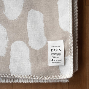 Woven Blanket - Dots Sand & White