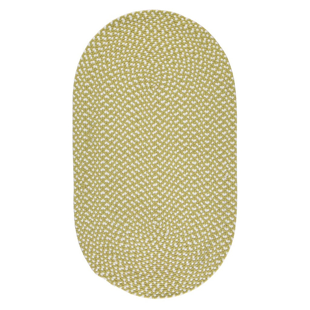 The Braided Rug Company Eco Oval Rug - Apple