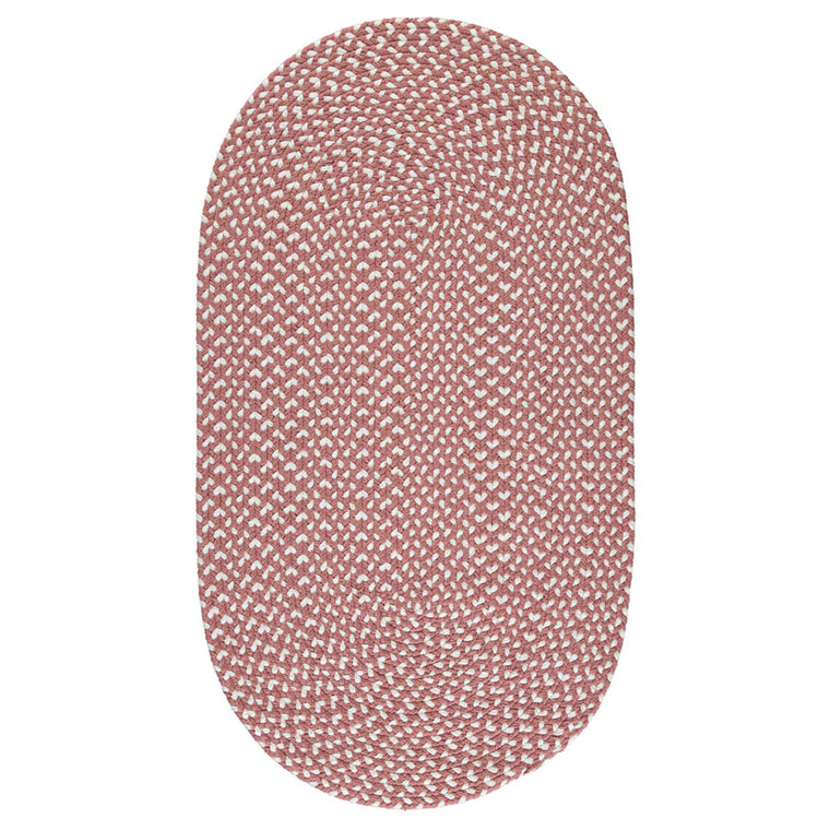 The Braided Rug Company Eco Oval Rug - Dusty Pink