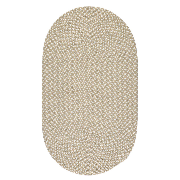 The Braided Rug Company Eco Oval Rug - Sand