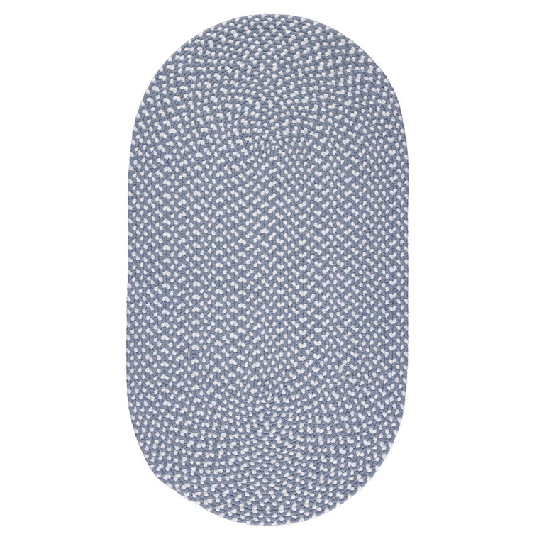 The Braided Rug Company Eco Oval Rug - Sky