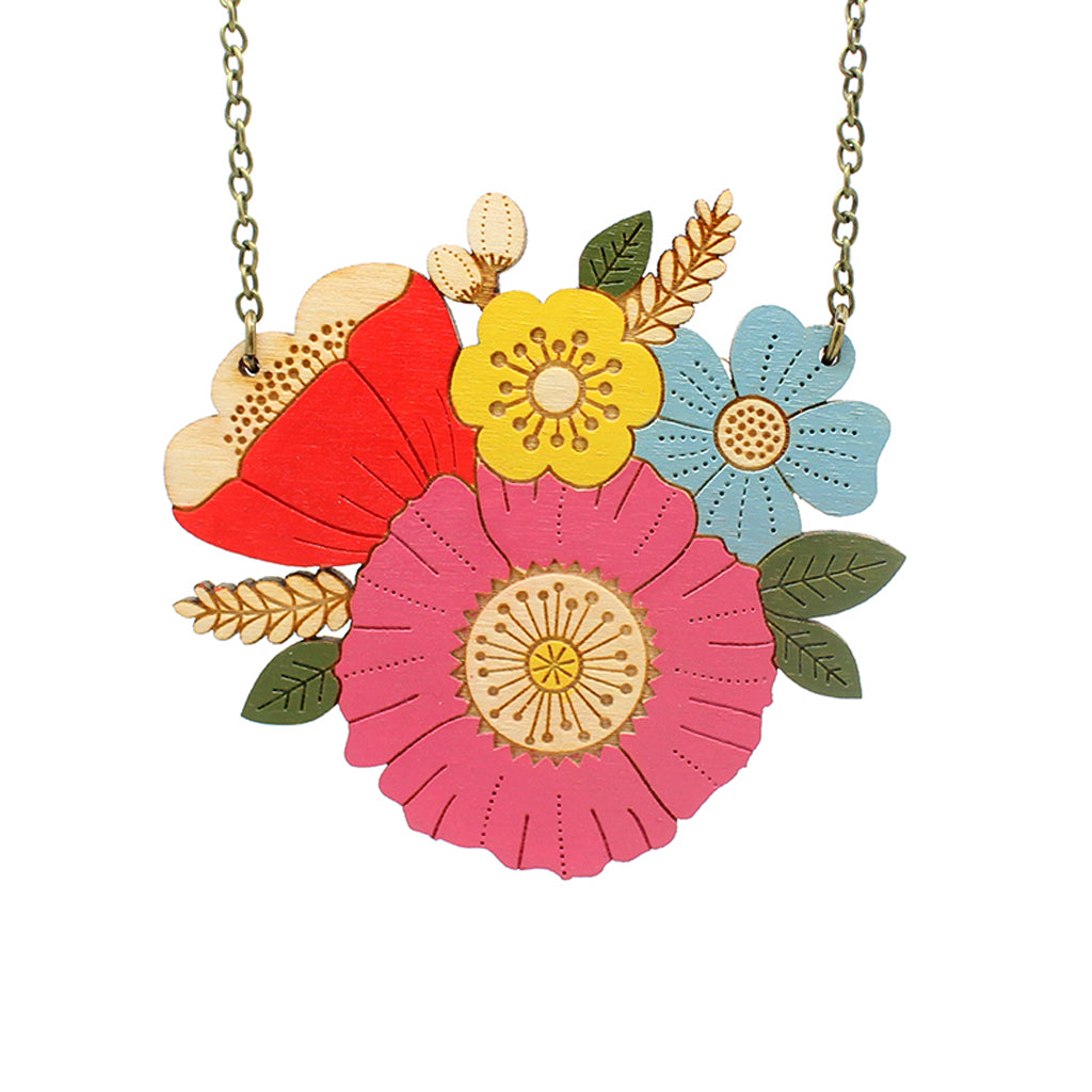 Poppy Posy Necklace by Layla Amber