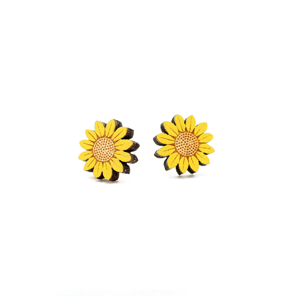 Sunflower Stud Earrings by Layla Amber