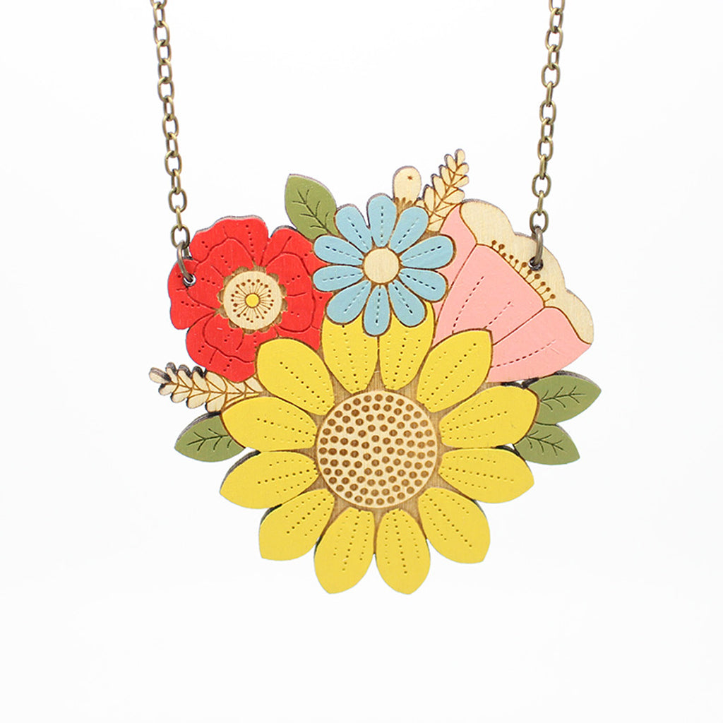 Sunflower Posy Necklace by Layla Amber