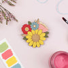 Sunflower Posy Brooch