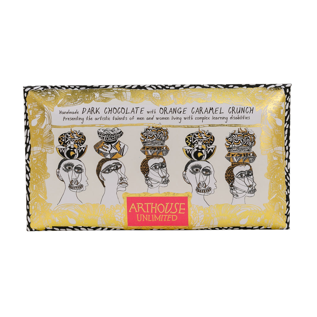 Chocolate Bar Figureheads - Dark Chocolate & Orange Caramel Crunch