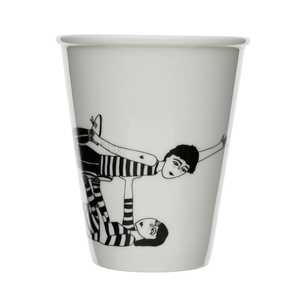 Porcelain Beaker - Flying Couple
