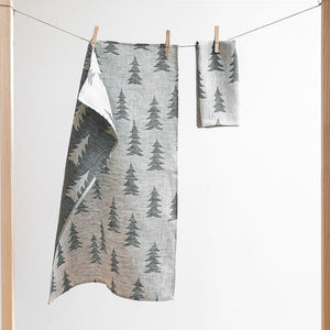 Linen Tea Towel - Gran Dark Green