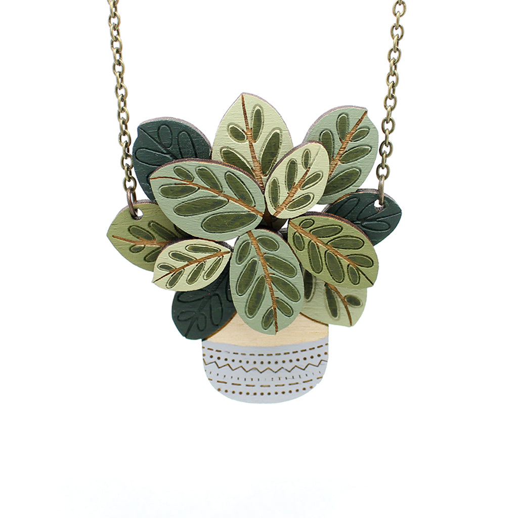 Calathea Makoyana Necklace by Layla Amber