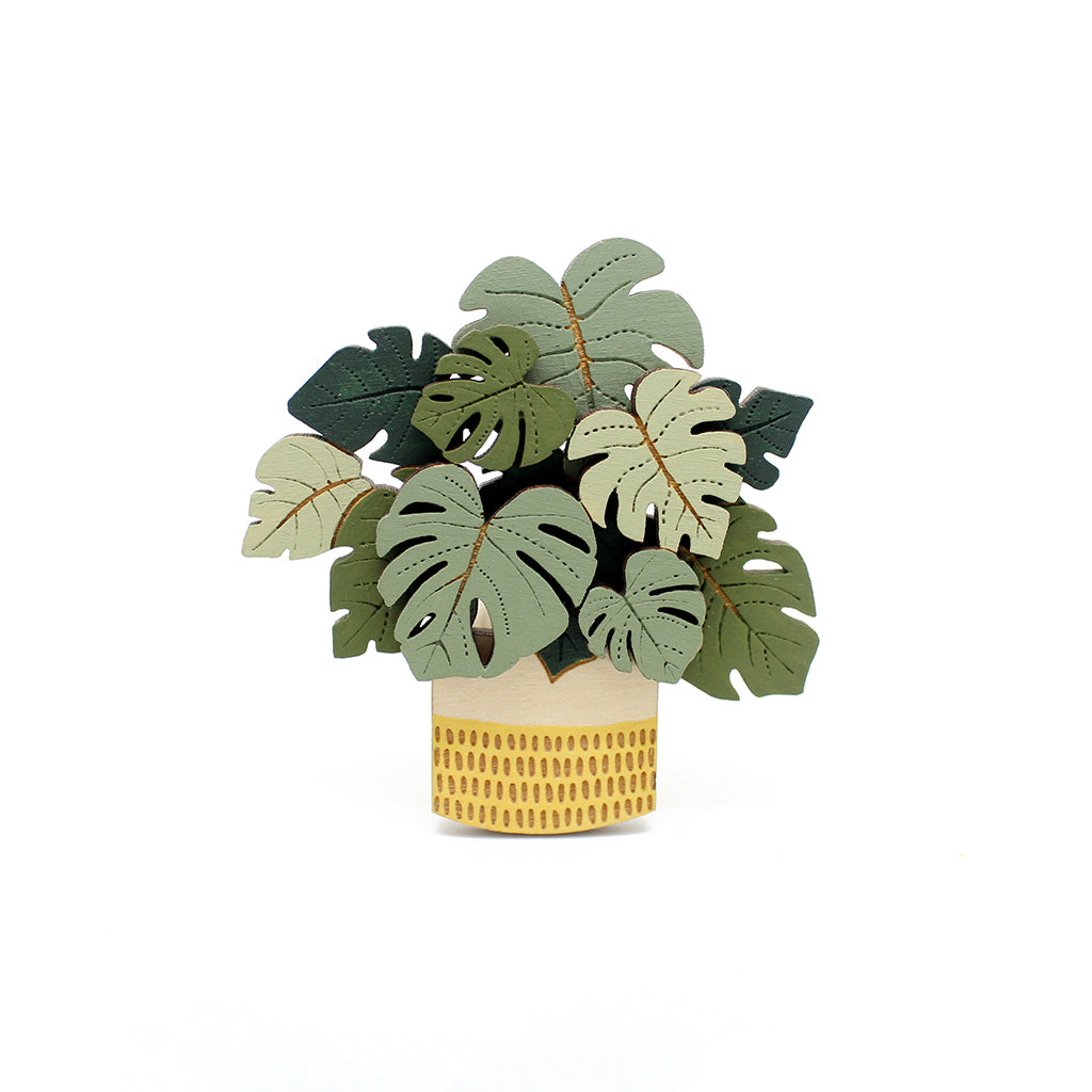 Monstera Deliciosa Brooch by Layla Amber