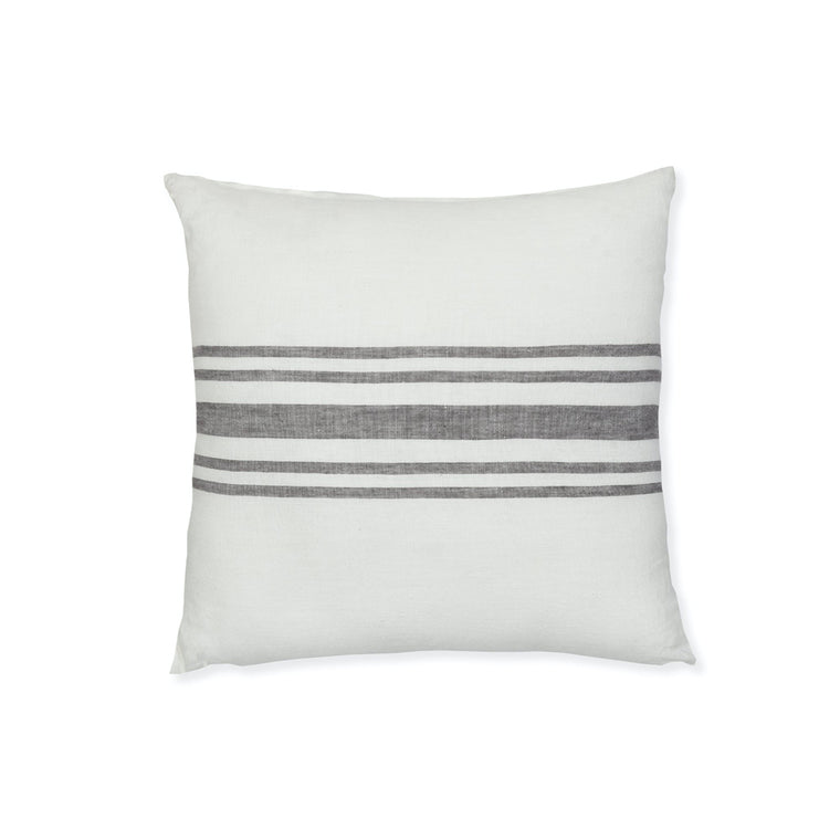 Hampnett Stripe Cushion 45x45cm - Grey Linen