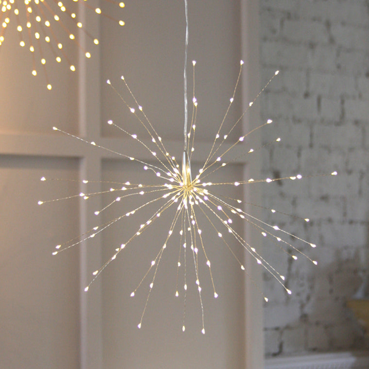 Hanging LED Starburst - Silver